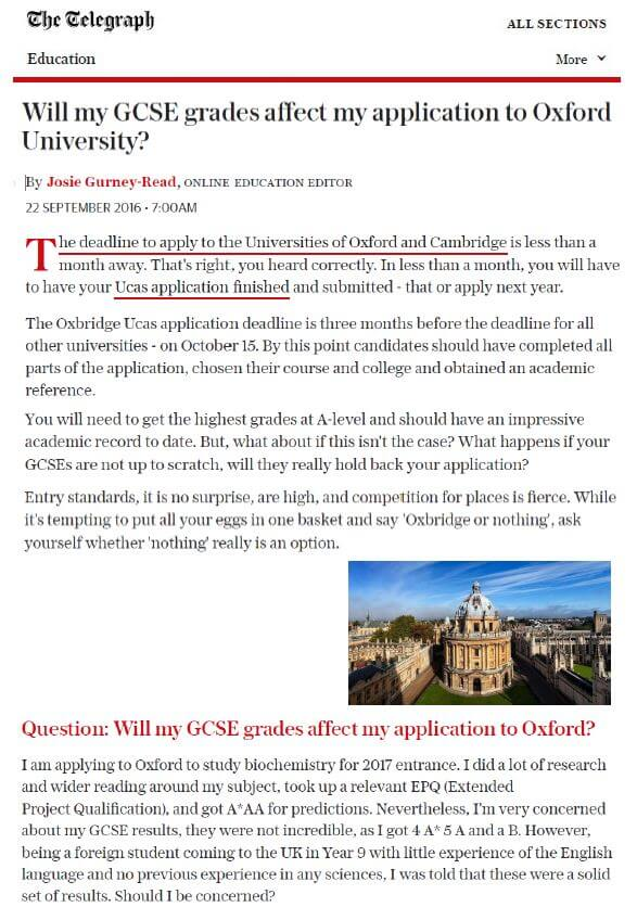 telegraph-gcses-for-oxford